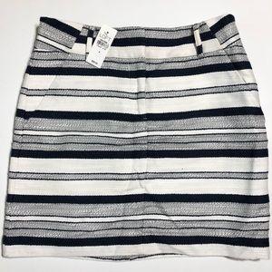 Ann Taylor LOFT NWT  Striped Mini Skirt. Sz4